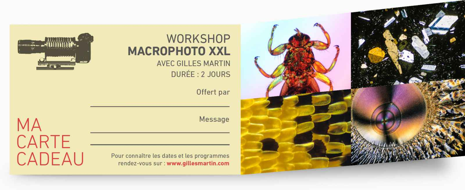 Offrez une participation au workshop du reporter photograhe Gilles Martin